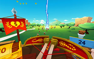 Side-Kick's VR game Romans from Mars is available on Samsung Gear, Google Cardboard and Merge VR.