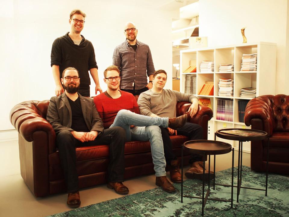 A shot of the Kopla team at flaregames HQ