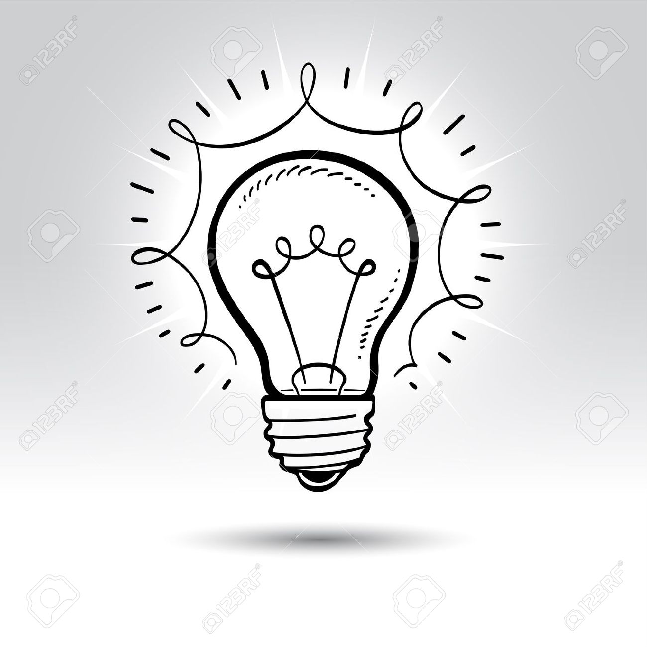 Line Drawing Light Bulb : The inner workings of game development industry