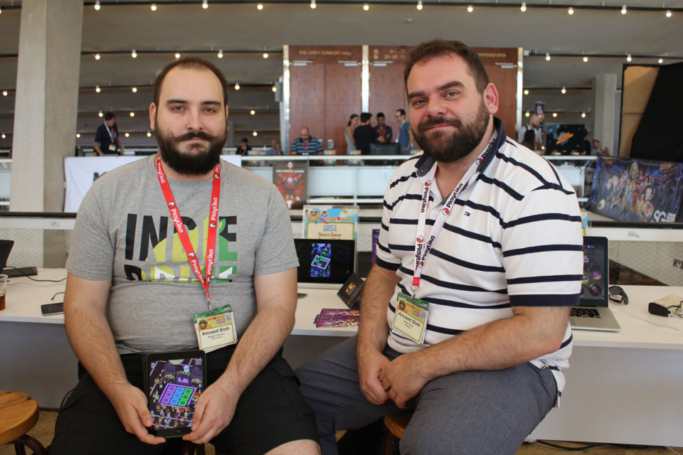 Amused Sloth at the Developer's Showcase, Casual Connect Tel Aviv 2016