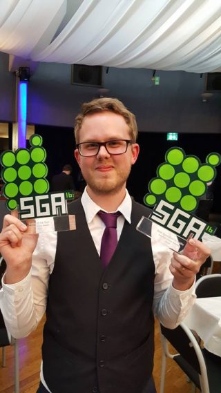 Gustav Edberg at the SGA gala